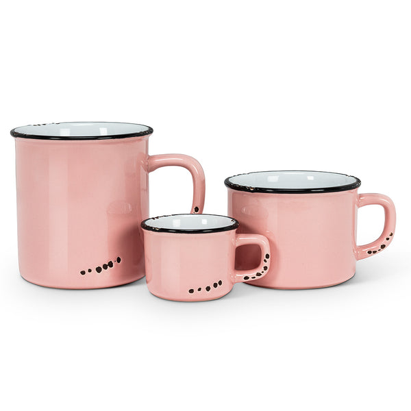 ENAMEL LOOK  MUG PINK COLLECTION