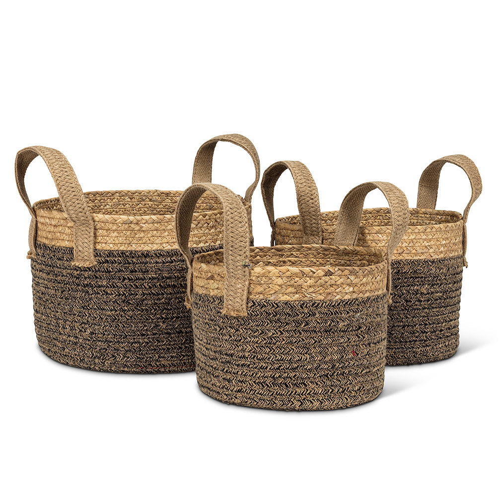 BASKETS S/3 COTTON HANDLES