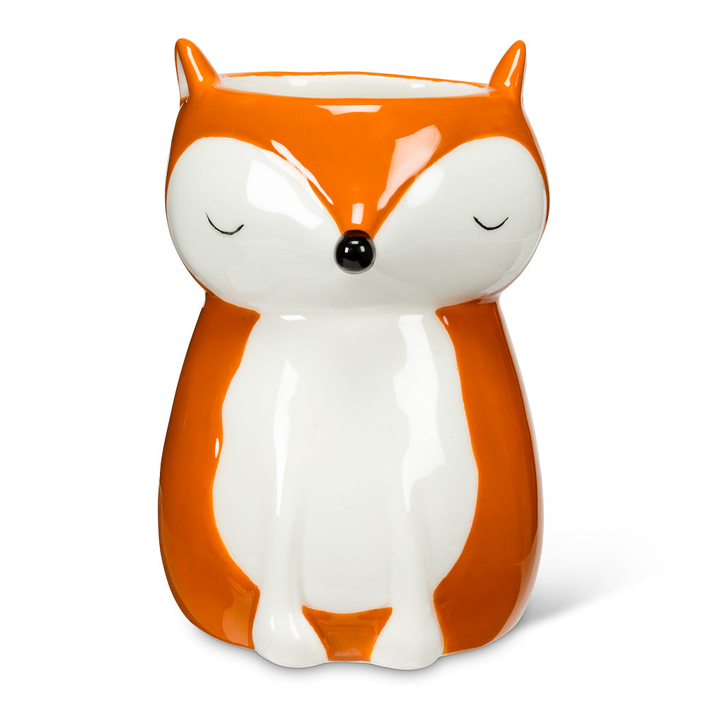 Mini sitting fox planter/vase