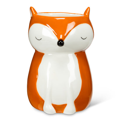 PLANTER-SITTING FOX