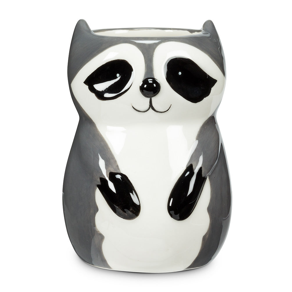 Mini Sitting Raccoon Planter/vase