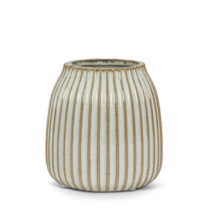 STRIPE RIBBED VASE