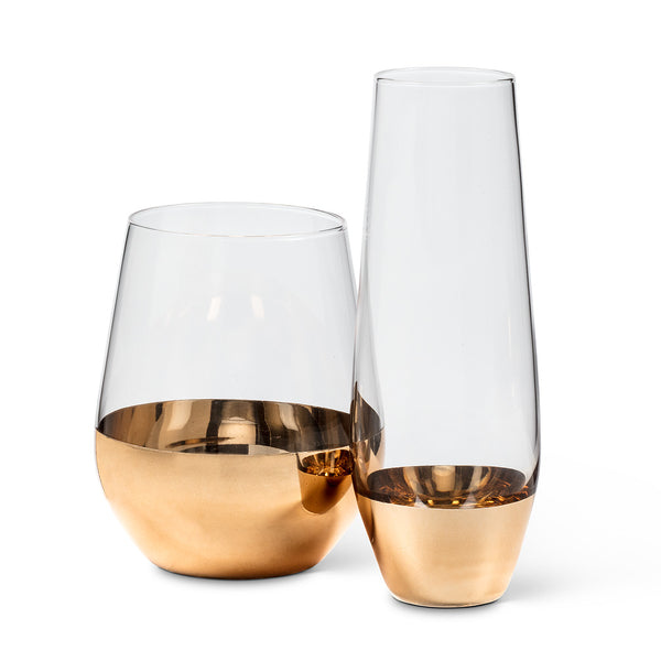 WIDE GOLD BAND GLASSES