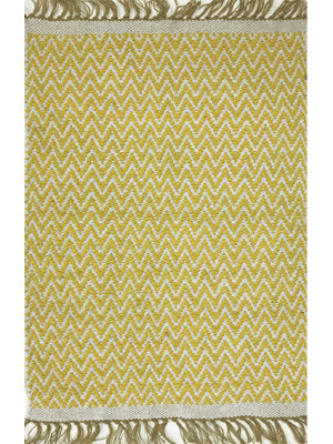 HANDMADE COTTON RUG YELLOW/NATURAL