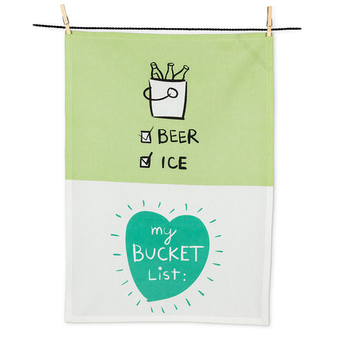 Bucket list tea towel