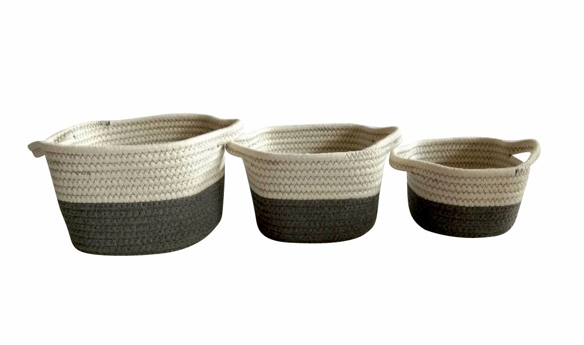 STORAGE BASKETS- GREY
