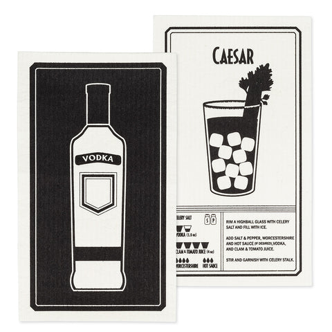 Vodka & Caesar Dish Cloths. Set of 2