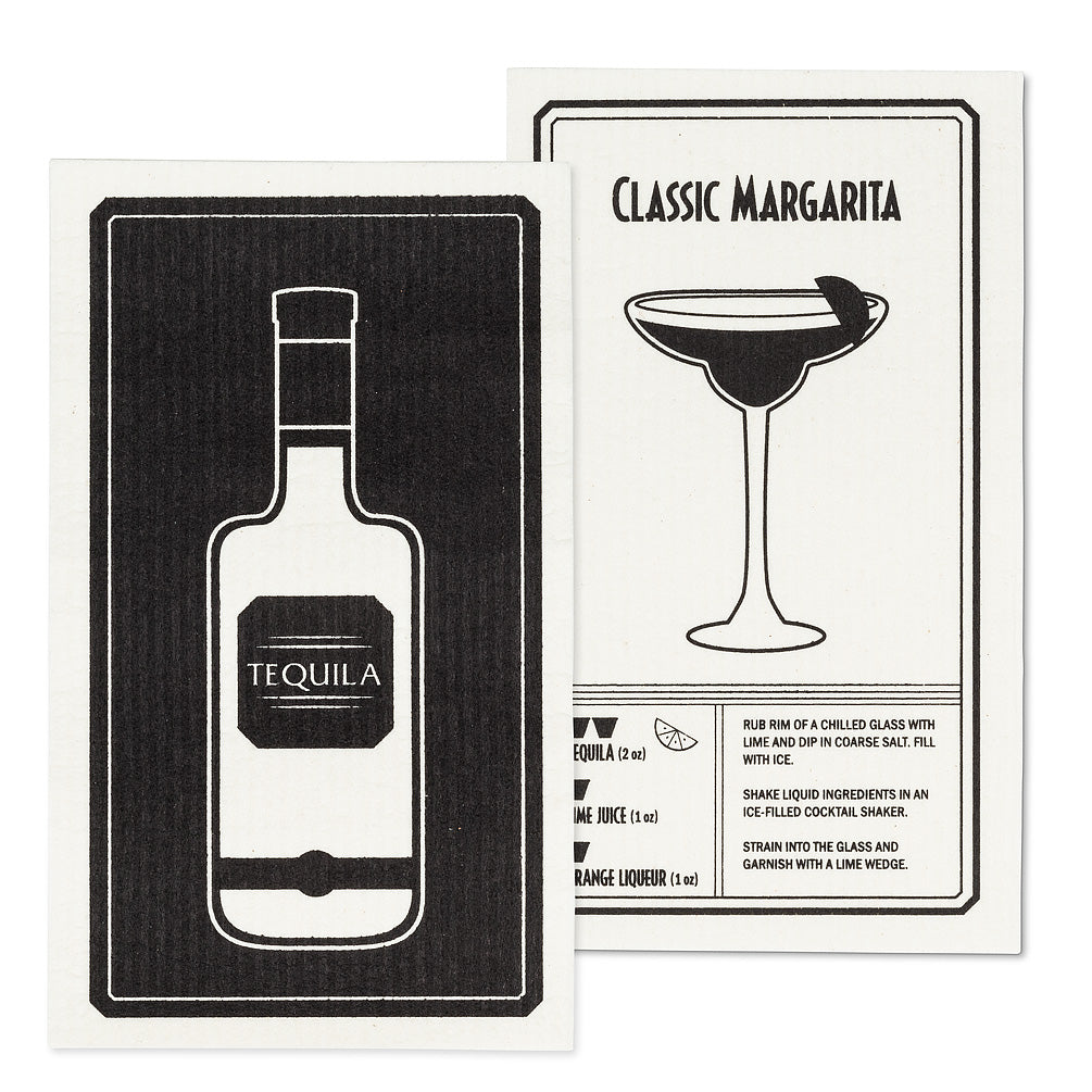 Tequila & Margarita Dish Cloths. Set of 2