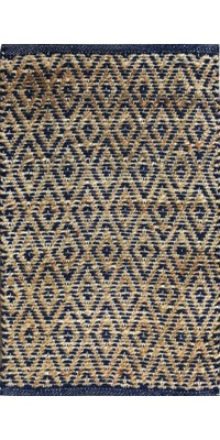 JUTE ARGYLE BLUE MAT COLLECTION