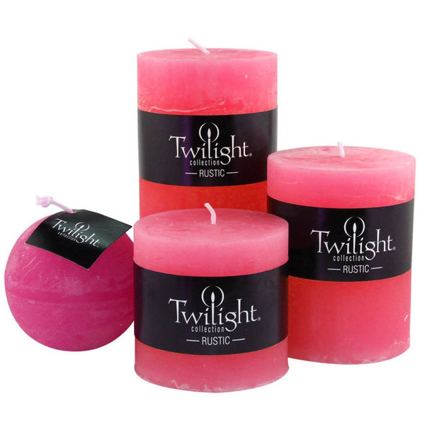 RUSTIC PILLAR  CANDLE COLLECTION 3X4""