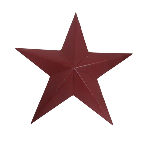 RED RUSTIC STAR