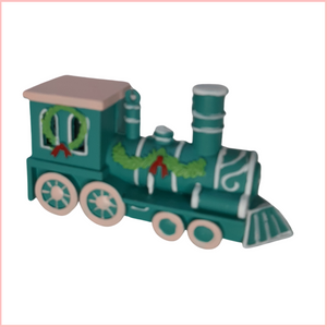 TEAL TRAIN ORNAMENT