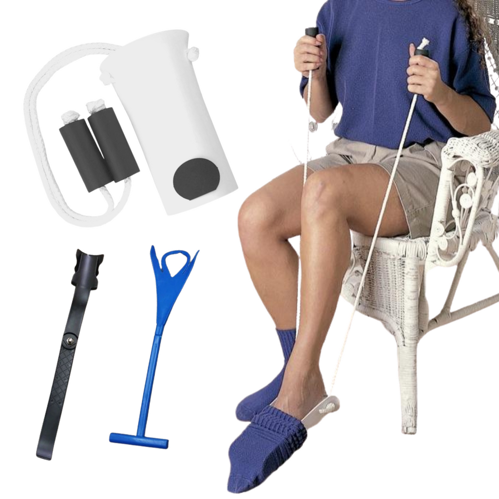 3-Piece Bundle: Easy Sock Helper, Lazy Shoe Helper & Sock Remover