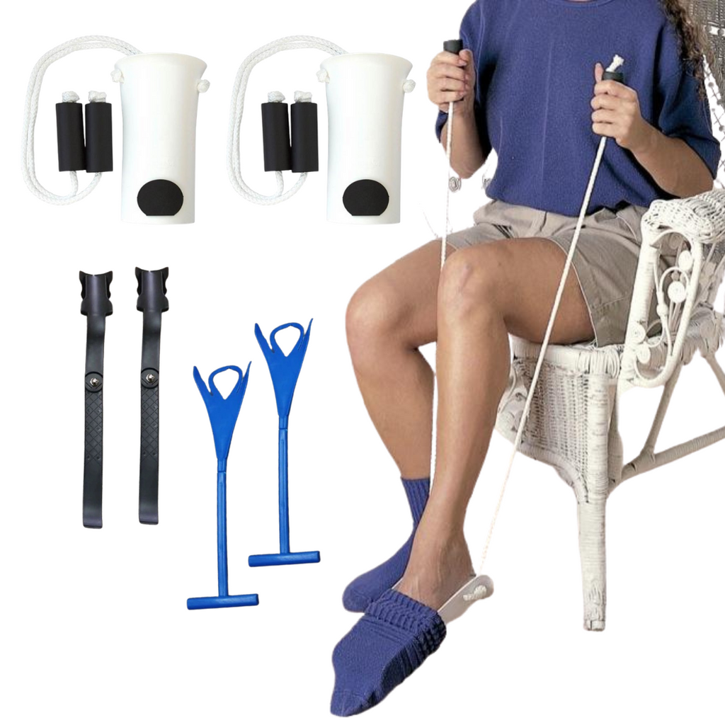 6-Piece Bundle: Easy Sock Helper, Lazy Shoe Helper & Sock Remover