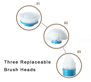 Power Scrubber Replacement Brush Head Set of 3