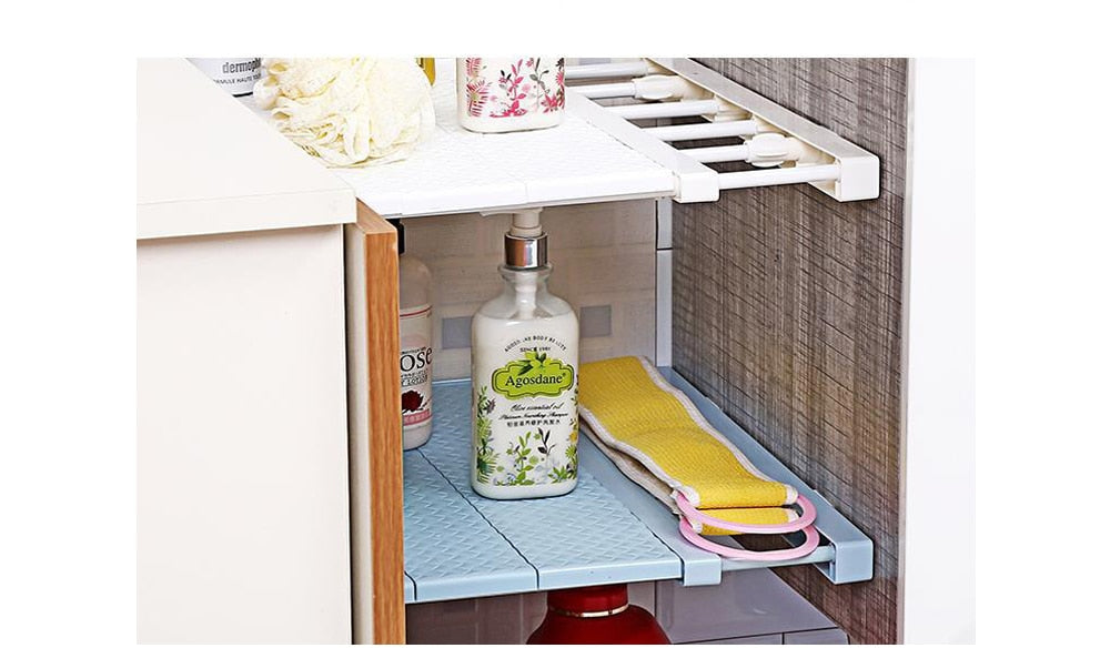 AdjustableCloset Organizer Shelf For Bathroom/Kitchen/Garage|HomesFan