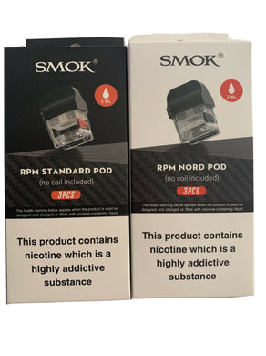 SMOK RPM40 Replacement Pods ~ 3 Pack ~ RPM OR NORD POD ~ 2ml ~ 100% Genuine