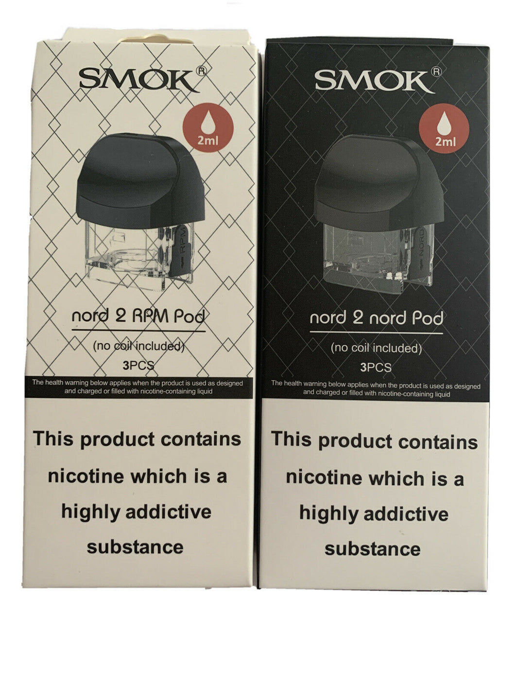 SMOK NORD 2 NORD Pod ~ NORD 2 RPM Replacement Pods ~ 3 Pk ~ 2ML ~ 100% GENUINE