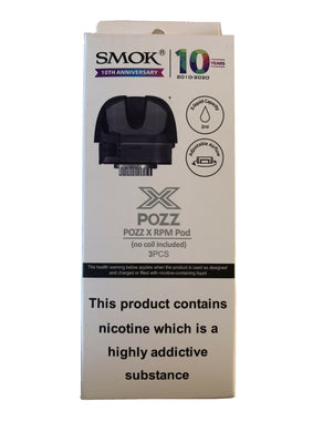 SMOK POZZ X RPM Refillable Replacement Pods ~ 2ml ~ 100% Genuine ~ 3 Pack
