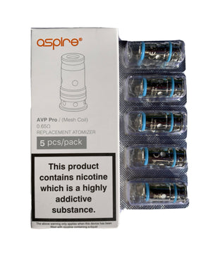 Aspire AVP Pro ~ Mesh Coils ~ 0.65ohm Mesh ~ 5 Pack ~ 100% Genuine With code! ~