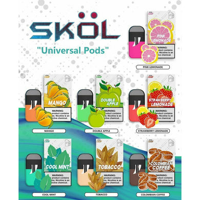 SKOL PODS ~ 19mg ~ 1.9% ~ Compatible with JUUL 4 Pack ~ FREE POSTAGE ~ skol pods