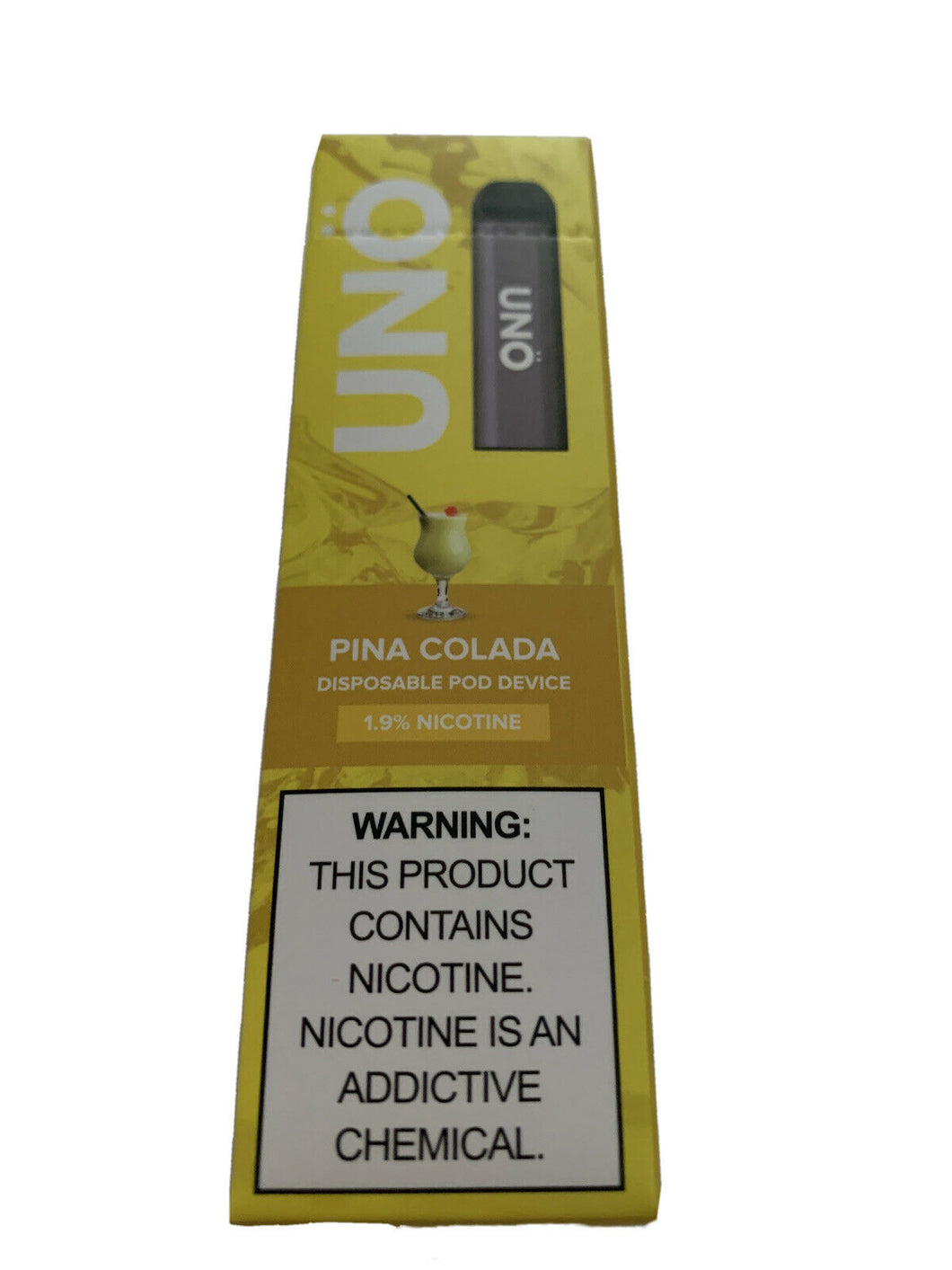 Skol Uno ~ Disposable Pod ~ PINA COLADA ~ 1.9% Nicotine ~ Free