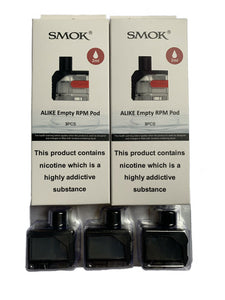 SMOK ALIKE REPLACEMENT REFILLABLE RPM PODS ~ 100% GENUINE (3 PACK)