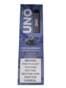 Skol Uno ~ Disposable Pod ~ ICED BLUEBERRY ~ 1.9% Nicotine ~ Free