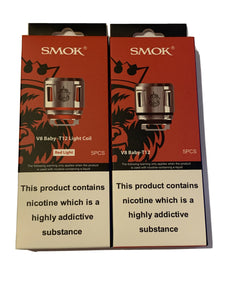 SMOK TFV8 BABY PRINCE COIL T12~ RED LIGHT ~ 5 Pack ~ GENUINE ~ SMOK V8 BABY