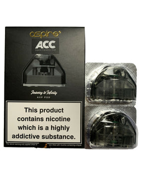 Aspire AVP Replacement Pods ~ 2ml ~ Ceramic Coil ~100% Genuine ~ Pack of 2