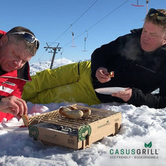CasusGrill Single Use BBQ in the snow