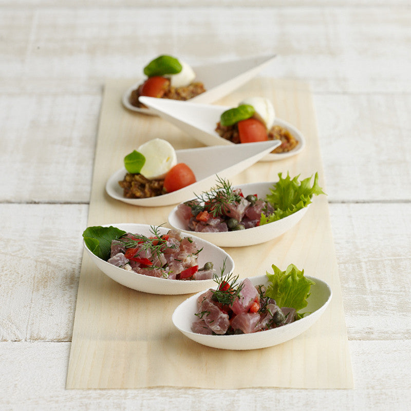 Disposable Canape Dishes - in 2 shapes NEW & Disposable Canape Dishes - in 2 shapes NEW | The Eco Table