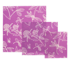Bees Wrap Clover print, small, medium, large