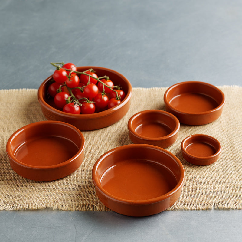 Spanish Terracotta Tapas Dishes - 6 sizes