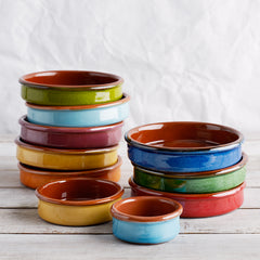 Spanish coloured Tapas Dishes 6cm, 9cm and 13cm
