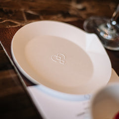Single use side plate - home compostable