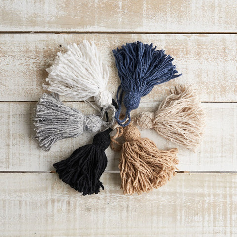 Wool Tassels made in Morocco  - 6 colours