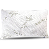 Bamboo Pillow - Shredded Memory Foam Pillow with Adjustable Height