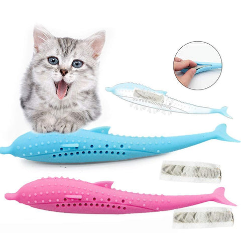 INTERACTIVE SILICON CAT TOOTHBRUSH