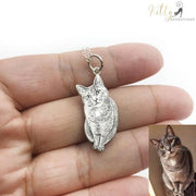 PERSONALIZED CAT PHOTO NECKLACE / KEYCHAIN