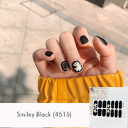 Smiley Black Nail Wrap