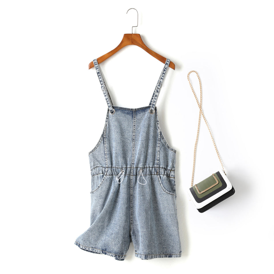 Kara Plus Size Denim Playsuit Romper