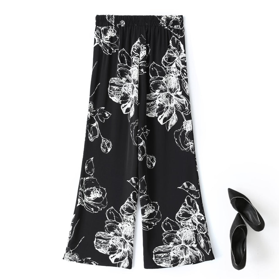 Nessa Plus Size Floral Wide Leg Pants