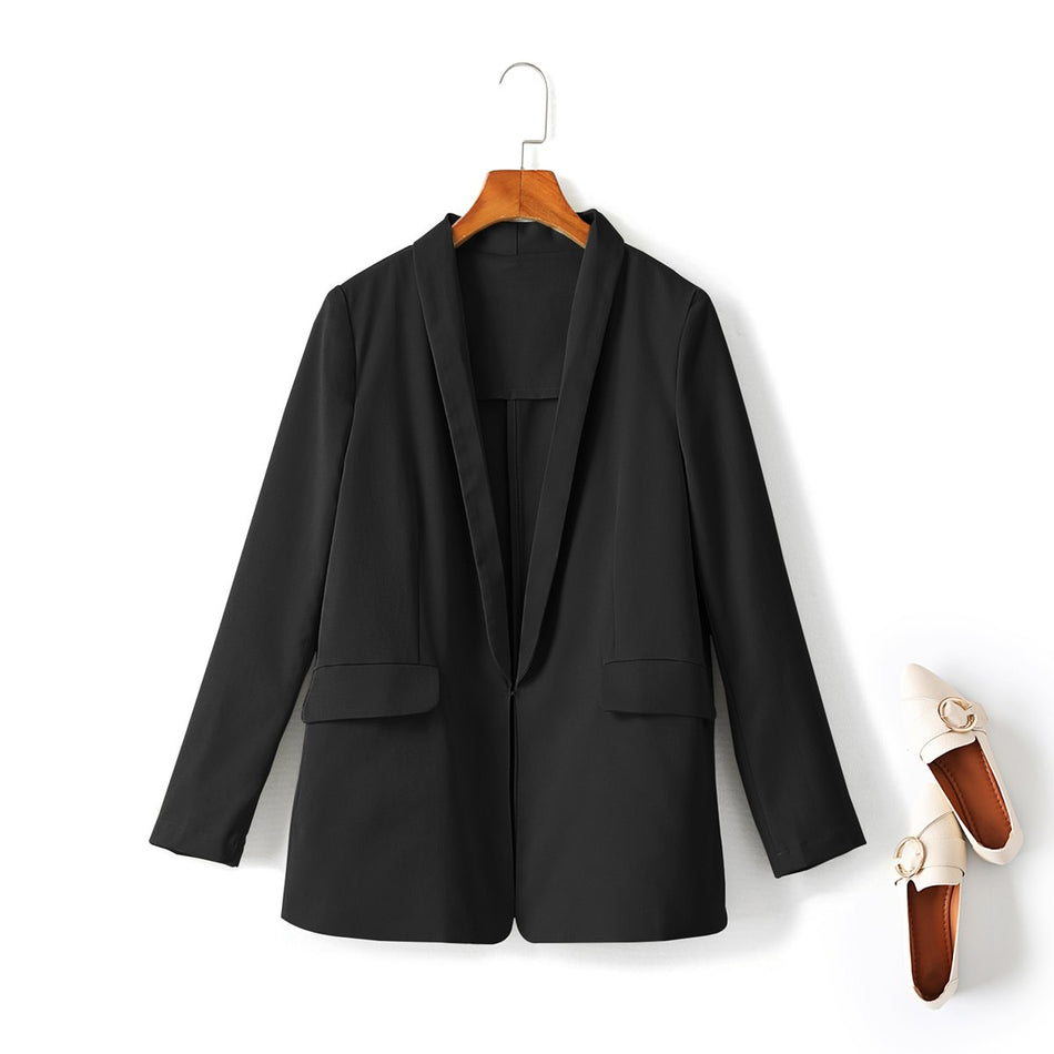 black plus size blazer