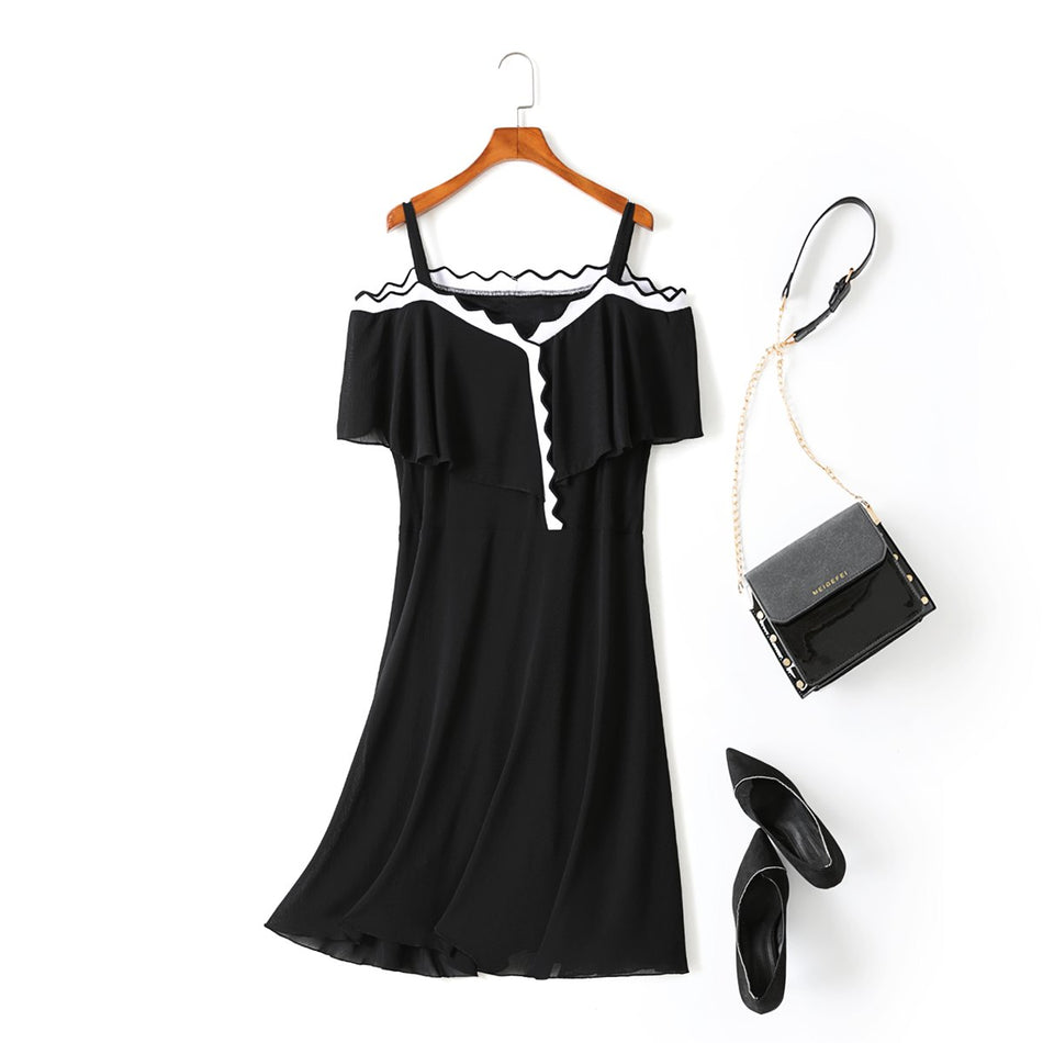 Yvonne Plus Size Off The Shoulder Short Sleeve Dress