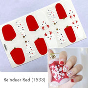Reindeer Red Nail Wrap