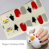 Penguin Christmas Nail Wrap