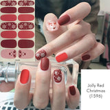 Jolly Red Christmas Nail Wrap