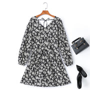 Haven Plus Size Black Floral Long Sleeve Dress