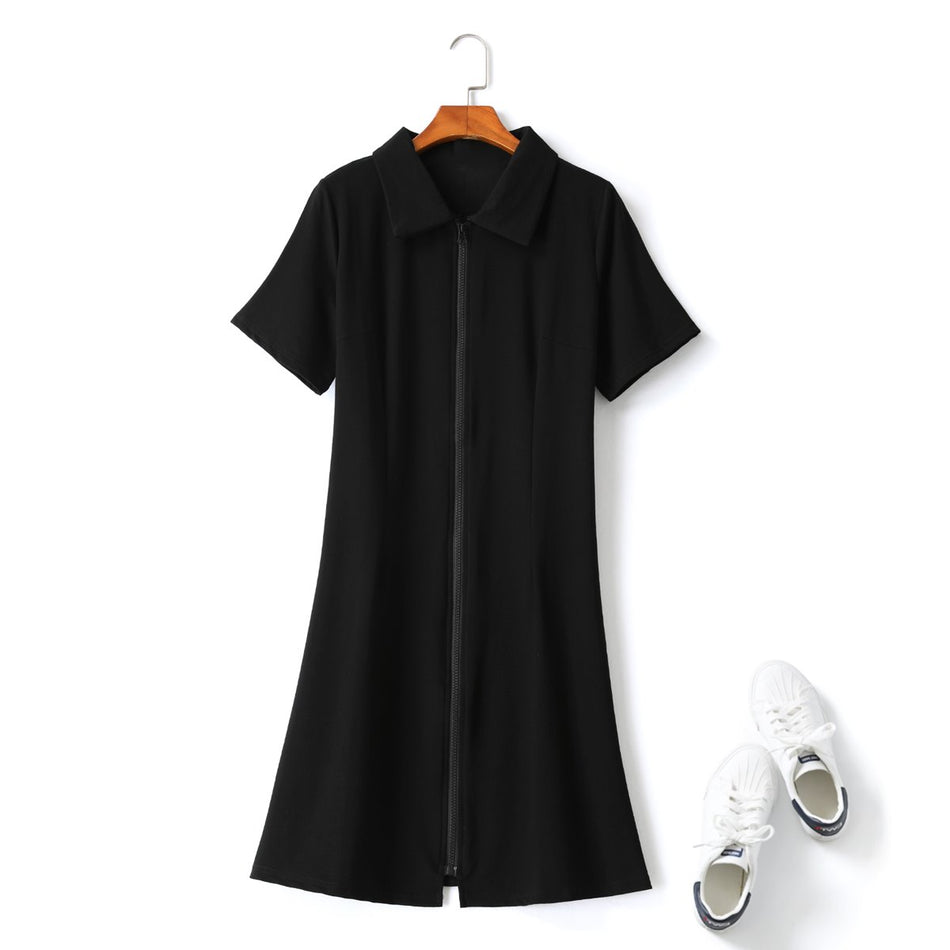 plus size black polo t shirt dress